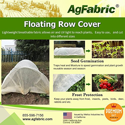 Agfabric Warm Worth Super-Heavy Floating Row Cover & Plant Blanket, 1.5oz Fabric of 7x25ft for Frost Protection & Harsh Weather Resistance, Tan by Agfabric
