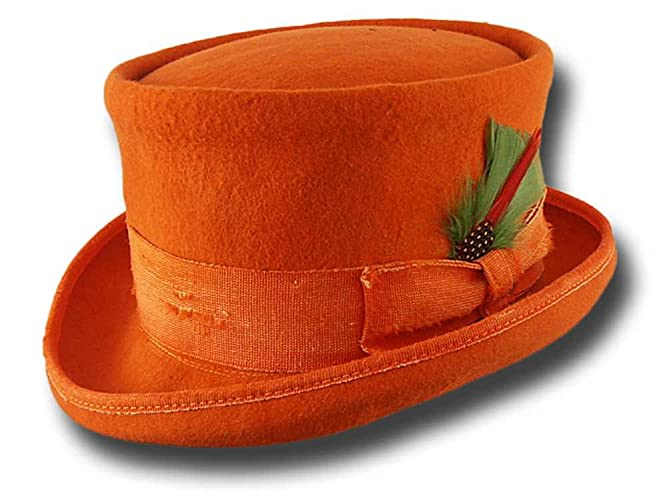 b83b771dc07b81 Amazon.com: Western Desert Rat Aged Top Hat Orange: Handmade