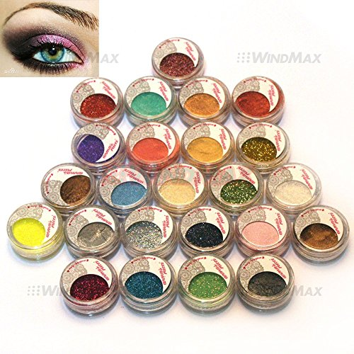 USPS Shipping! 24 Warm Smoked Metals Color Glitter Shimmer P