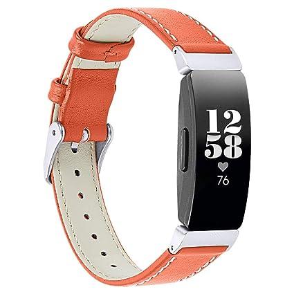Amazon.com: Yemoo Correa de piel compatible con Fitbit ...