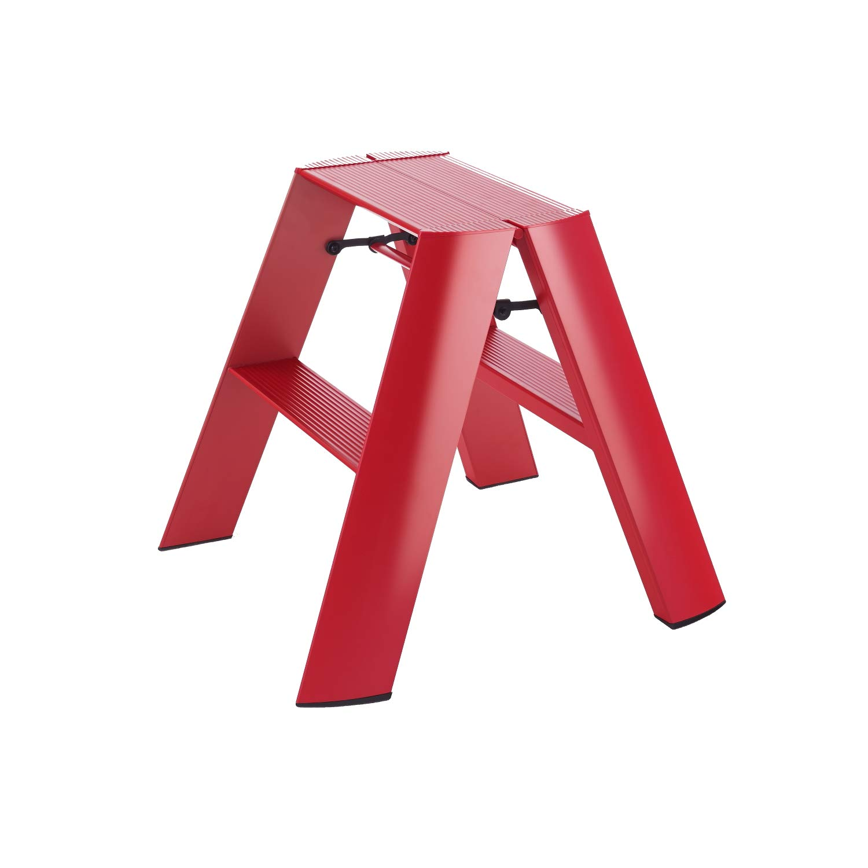 Superb Hasegawa Ladders Lucano Step Stool Wide 2 Red Uwap Interior Chair Design Uwaporg