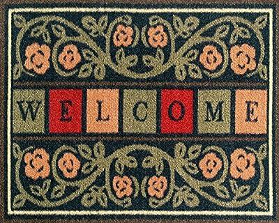 Ottomanson Ottohome Collection Rectangular Welcome Doormat (Machine-Washable/Non-Slip)