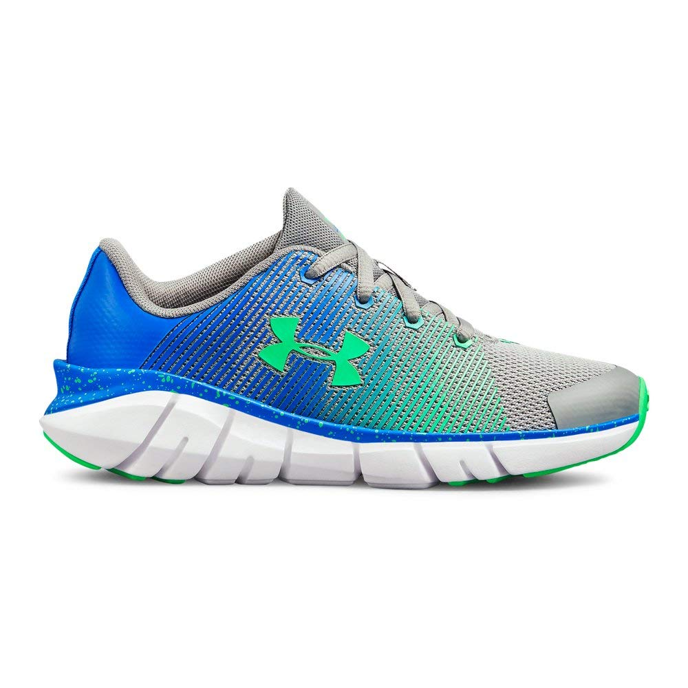 Under Armour Boys' Pre School X Level Scramjet Sneaker, Steel (102)/Blue Circuit, 1.5