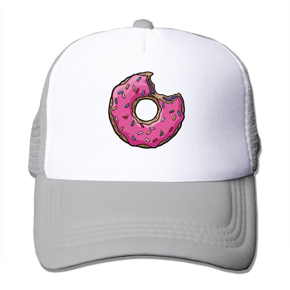 ea509b165d4 Amazon.com  Pink Sweet Donut Doughnut Trucker Adjustable Mesh Caps Ash   Clothing
