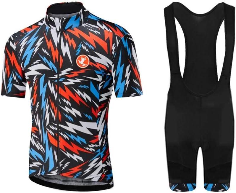 Uglyfrog Maillots de Ciclismo Hombres Camiseta y Pantalones Cortos de Ciclismo Conjunto de Ropa para Ciclismo al Aire Libre
