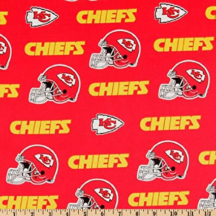 0599c7b4 Fabric Traditions NFL Cotton Broadcloth Kansas City Chiefs Red/Yellow  Fabric by The Yard