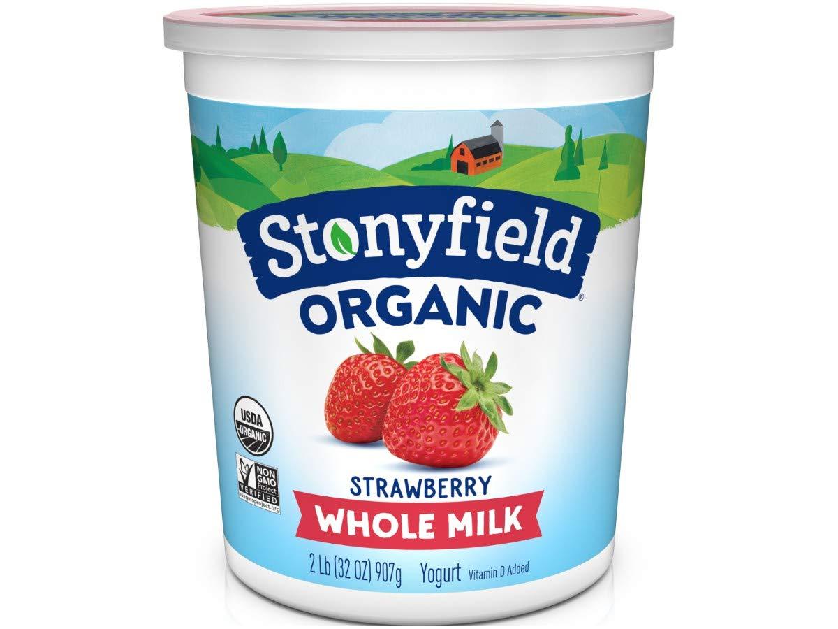 Stonyfield Farm Organic Strawberry Yogurt, 32 Ounce - 6 per case.