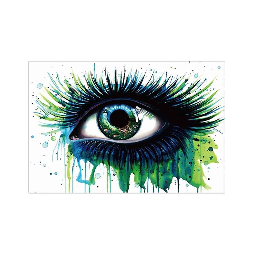 Babysbreath17 Aceite de los Ojos Verde Pintura Grande del Ojo Pared de la Lona Fotos Acuarela sin Marco Ilustraciones dormitorios /óleo Impresiones 30x45cm