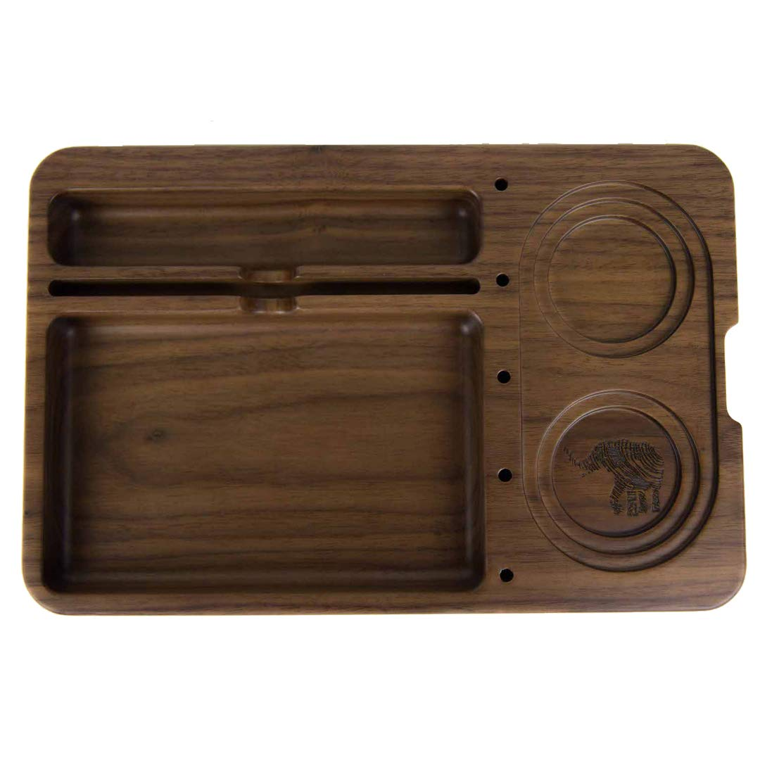 Joint Rolling Tray - Jay Mill by Matriarch - Walnut Wood - 11'' x 7.24'' x 1.41''