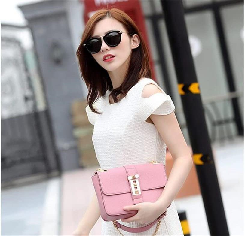 Summer Chain Small Bag Slant Bag Single Shoulder Female Bag,Black,23X17X7Cm