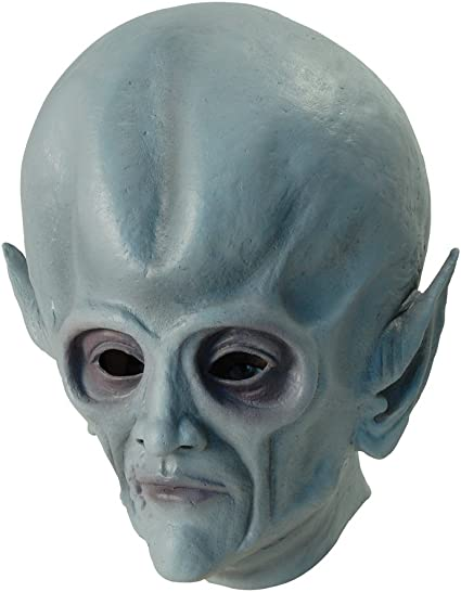 Amazon.com: Gris Alien Marciano Overhead Mask: Toys & Games
