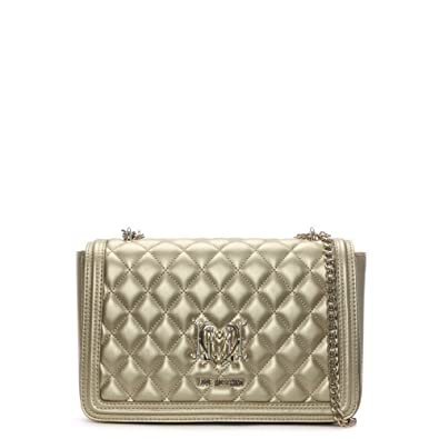 49a87af2d7 Love Moschino Gold Metallic Quilted Shoulder Bag Gold Metalic ...
