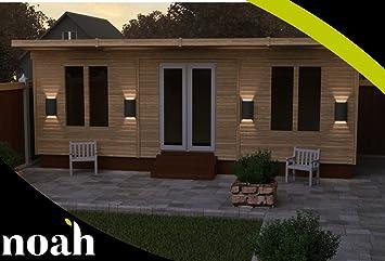 Noah - Cama de jardín de madera resistente, 10 x 25 cm, para jardín o taller: Amazon.es: Jardín