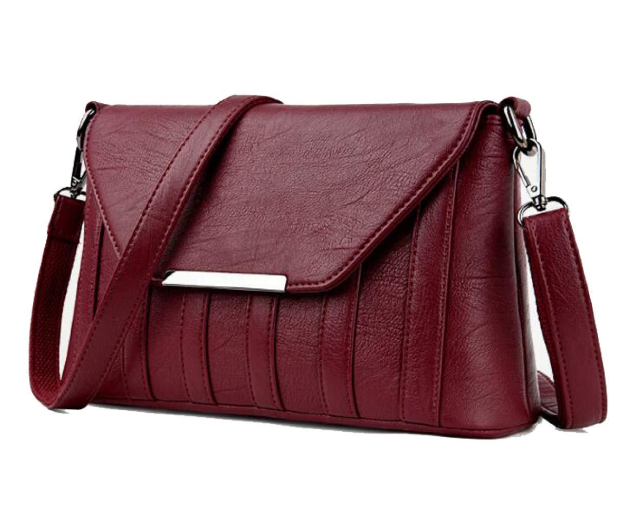Handtasche Frau Schulter Diagonal Bag Bag Bag Fashion PU Handtasche 30  10  18,rot-OneGröße B07J6N74FR Schultertaschen Mittlere Kosten dd1d65