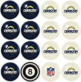 Imperial Officially Licensed NFL Merchandise: Home vs. Away Billiard/Pool Balls, Complete 16 Ball Set, Los Angeles Chargers