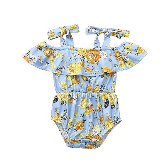 Baiomawzh Mono para bebé niñas Verano, Monos con Estampado ...