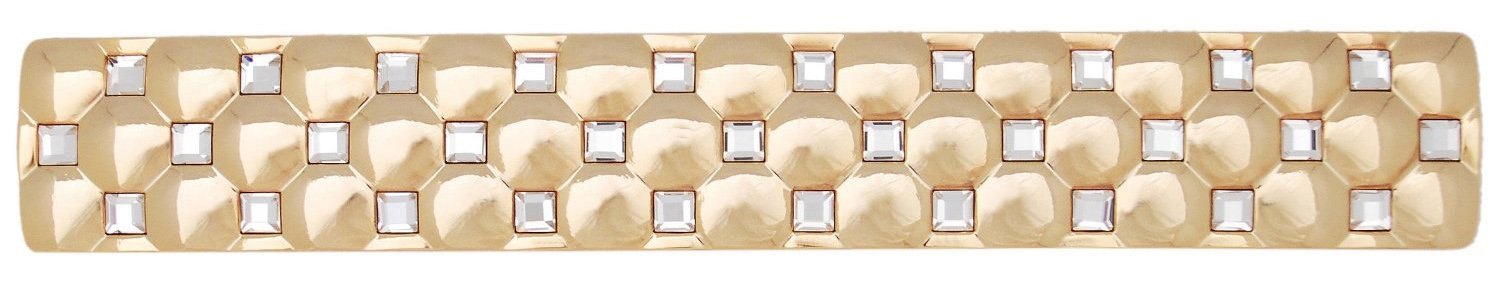 Giusti WMN640.128.KRGP 5-9/10-Inch Luxury Pull, Gold Plated and Swarovski Elements