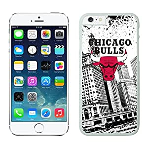 Fashion Custom Designed Cover Case With Chicago Bulls For iphone 6 plus White 5.5 TPU inch Phone Case 082