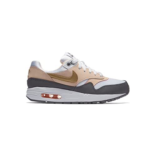 buy popular 59764 208aa Nike Air MAX 1 (GS) Zapatillas Niños Blanco Amazon.es Zapatos y  complementos