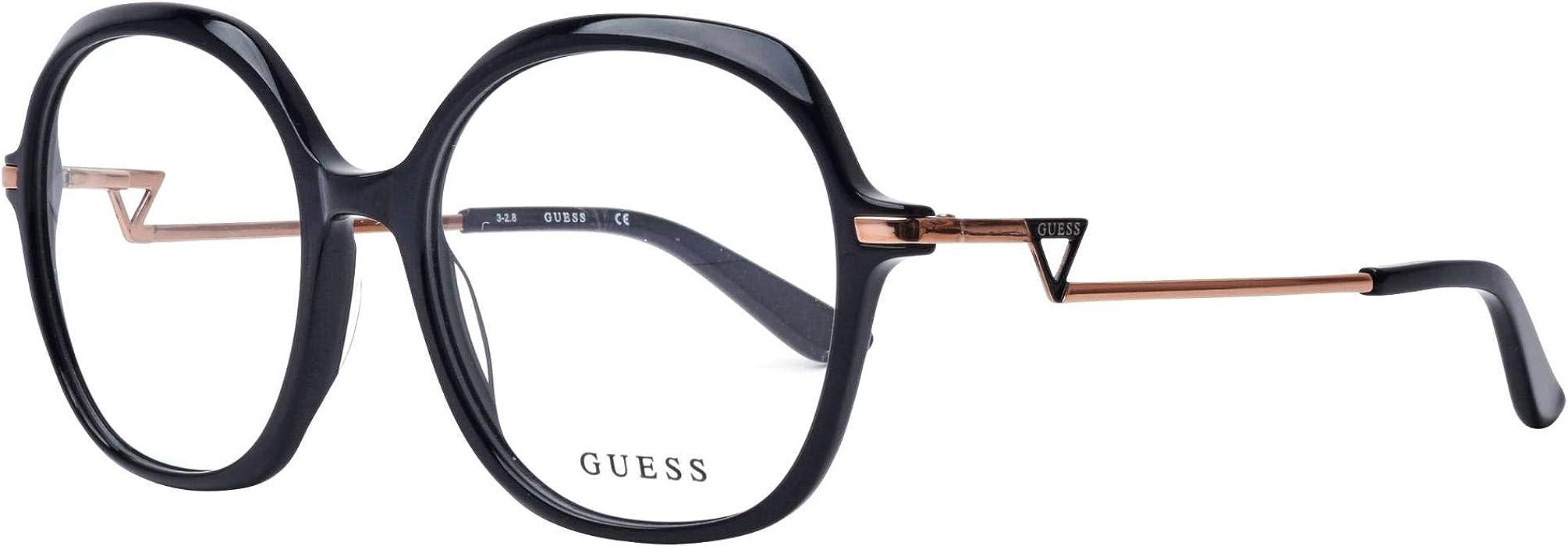 f5088a1e10f Guess Lunettes de vue pour femme Noir GU 2702 001 54 17  Amazon.fr ...
