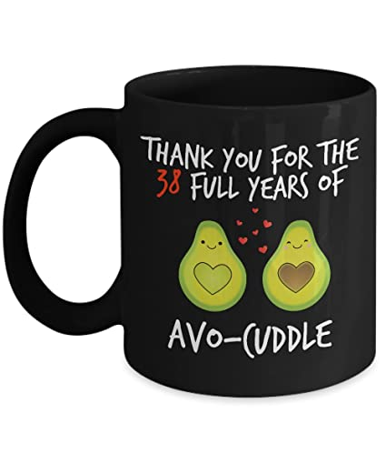 Image Unavailable. Image not available for. Color: 38th Wedding Anniversary Gifts ...