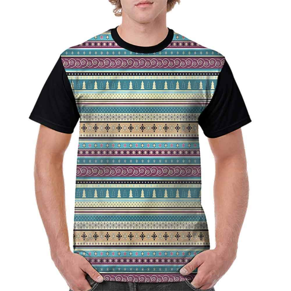 BlountDecor Performance T-Shirt,Patchwork Style Spring Fashion Personality Customization