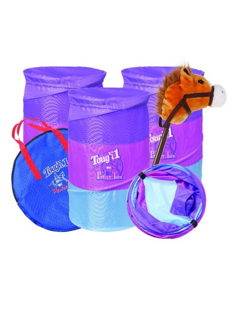 Tough-1 Toy Barrel and Stick Horse Gift Set Purple Raspberry 58-43