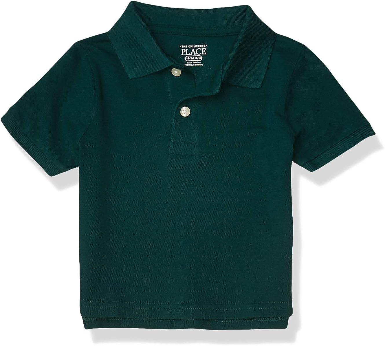The Children's Place Baby Boys' Short Sleeve Uniform Polo