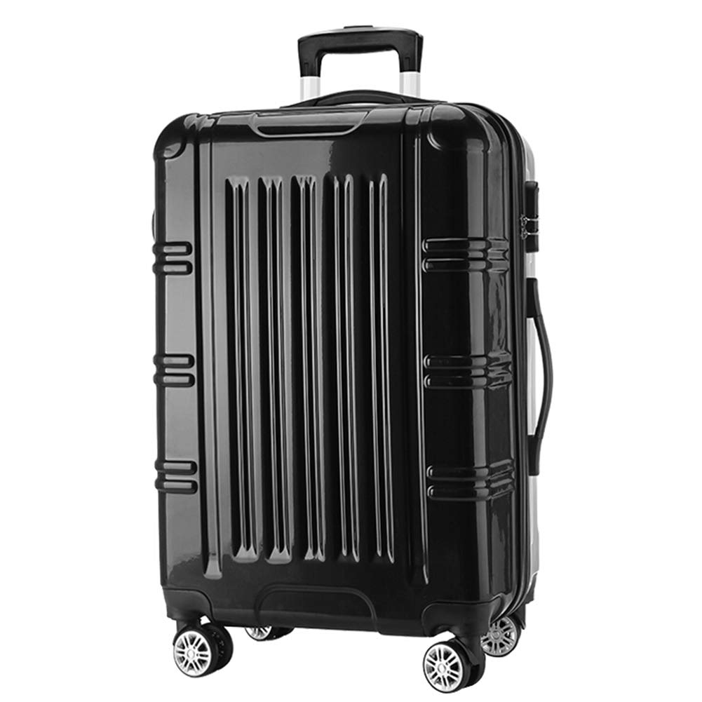 Z&YY 荷物用 男女兼用 ユニバーサルホイール トロリーケース スーツケース ラゲッジ 学生 パスワードボックス ボーディングボックス 配送ボックス(20インチ、24インチ) 24 inches ブラック Z&YY B07L56813M ブラック 24 inches