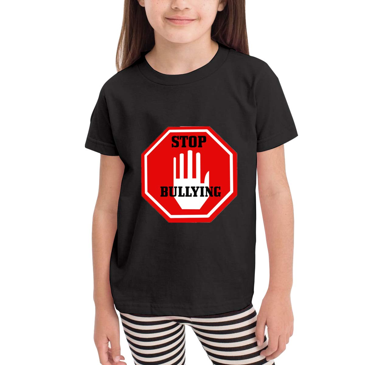 Stop Bullying No Bullying Sign 100/% Cotton Toddler Baby Boys Girls Kids Short Sleeve T Shirt Top Tee Clothes 2-6 T