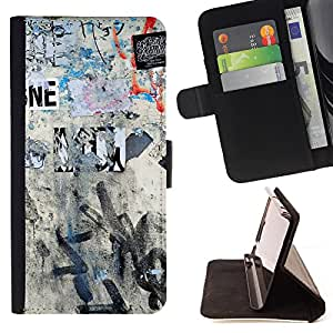 King Air - Premium PU Leather Wallet Case with Card Slots, Cash Compartment and Detachable Wrist Strap FOR Sony Xperia Z3 D6653- Art Pattern Draw