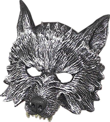 Men Halloween Fancy Party Deluxe Big Bad Wolf Mask Grey Pack Of 3 -