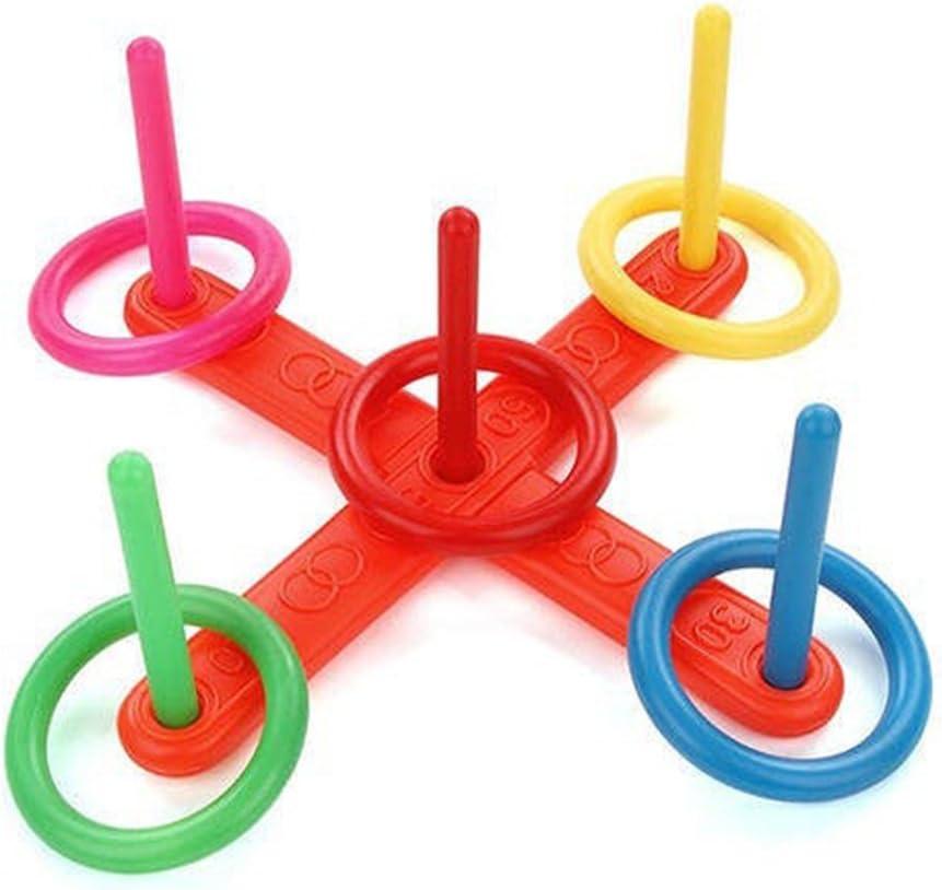 Babys giocattoli educativi, 1 set Funny Hoop anello plastica giocattolo per bambini giocattolo esterno – Uxely
