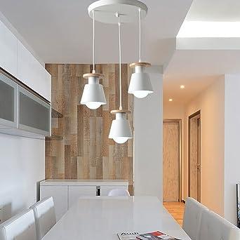 TRIOY Life Pendelleuchte Hngeleuchte Nordic Kronleuchter Deckenlampen Holz Und Metall Deco Lampe Beleuchtung 3 Flammig Hhenverstellbar