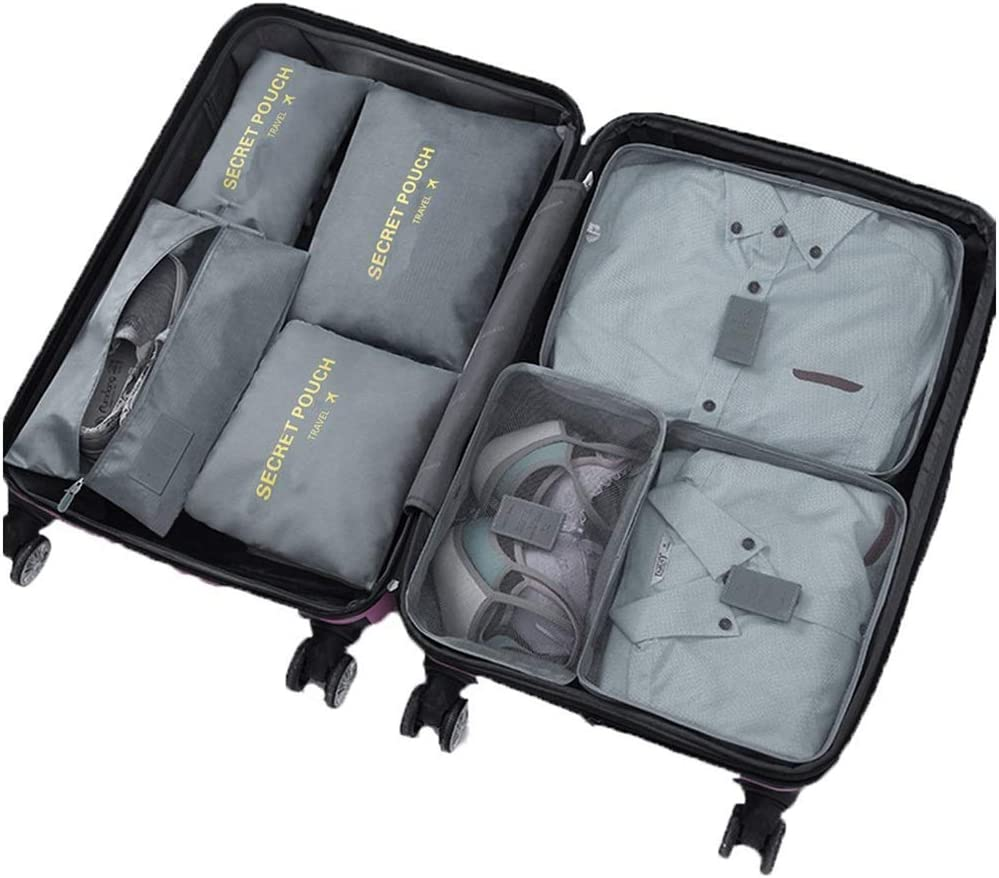 Portable Nylon Travel Luggage Organizer Zippers Packing Cube Storage Bag Pouch