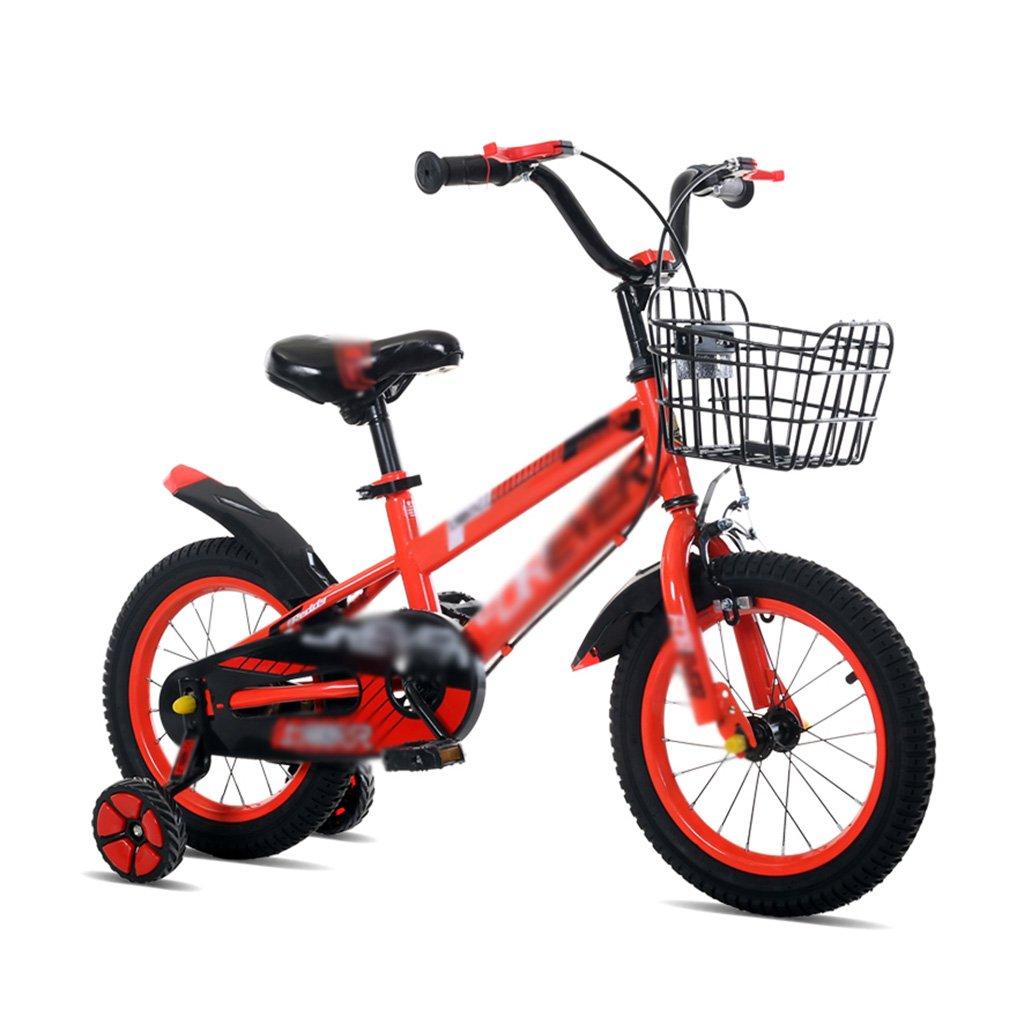 子供用自転車 子供用 自転車 男の子と女の子用 12/14/16インチ 自転車 ベビーカー マウンテン 2-10歳 アクセサリー 16 inches レッド B07JV8DZYQ 16 inches|レッド レッド 16 inches