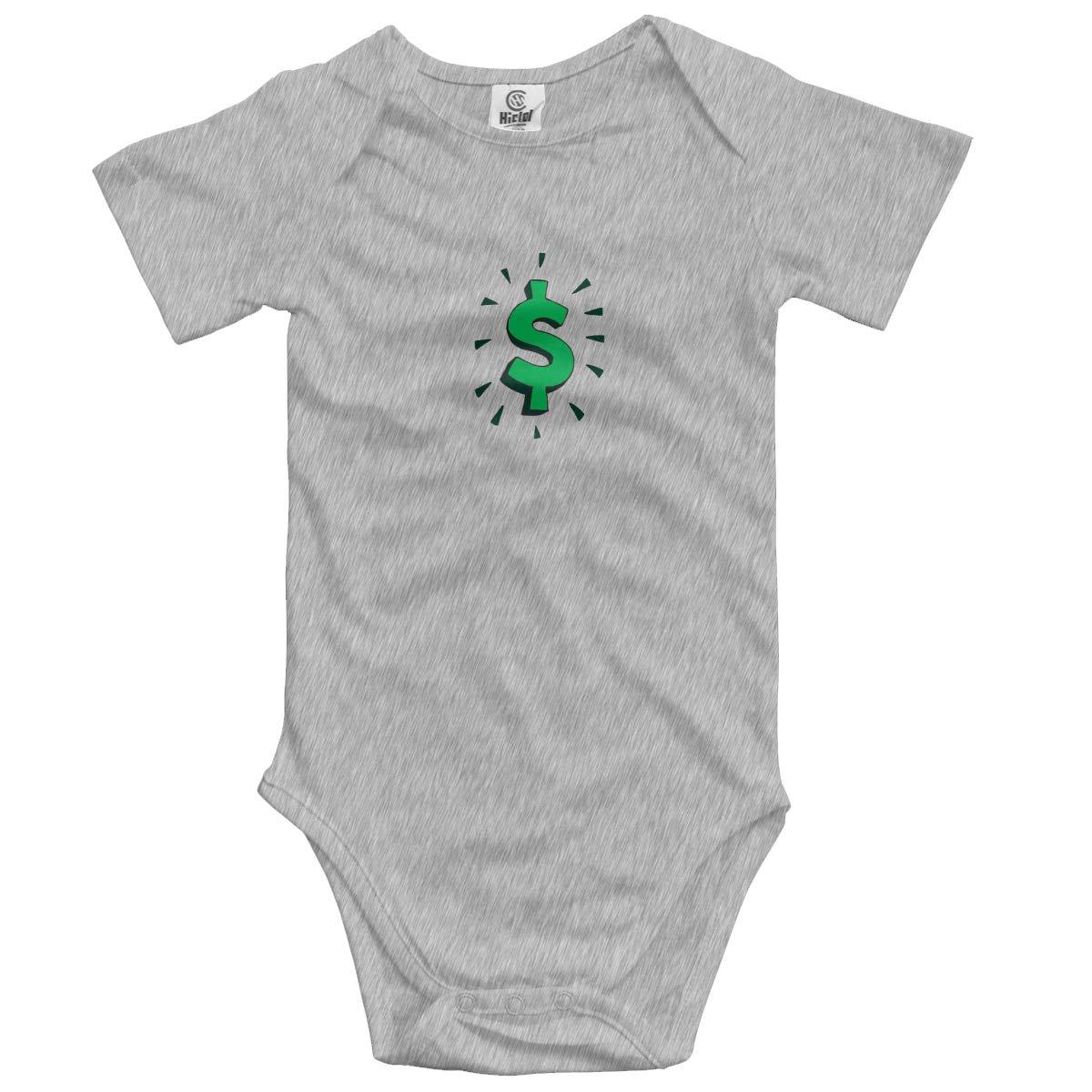 XHX Newborn Infant Dollar Sign Short Sleeve Romper Onesie Bodysuit Jumpsuit