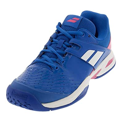 11bf99d6aa68 Babolat Propulse AC Juniors Tennis Shoes Blue Pink (1.5)