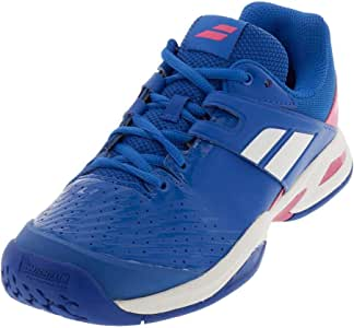 Babolat Women`s Propulse Fury All Court Tennis Shoes White and Fluo Strike ()