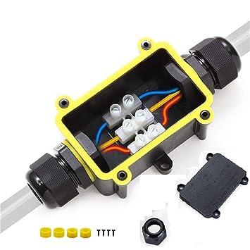YS Caja de Conexiones impermeable Caja de Empalmes IP68 con 2 Vías subterráneo cajas conexiones , electricas para Cable de Diámetro Ø4mm - 14mm: Amazon.es: ...