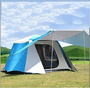 ZZWL Tienda de campaña Familiar para 3 a 4 Personas. Abra automáticamente la Tienda de campaña Doble hidráulica - Adecuada para Playa, Playa, Pesca, Camping, Parque: Amazon.es: Deportes y aire libre
