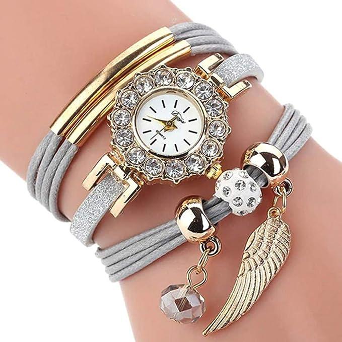 Amazon.com: Women Luxury Angel Wing Bracelet Quartz Bling Wristwatch Rhinestone Clock Ladies Dress Gift Watches ~ Reloj de Mujer de Moda (Brown/Cafe): Cell ...