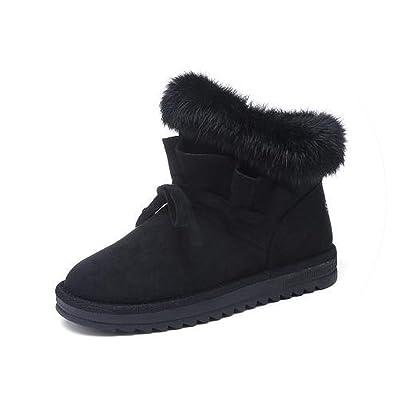 Women Fashion Boots Fox Hair Botas Feminina Zapatillas Mujer Shoes Woman Sneakers Vintage Boots,Black