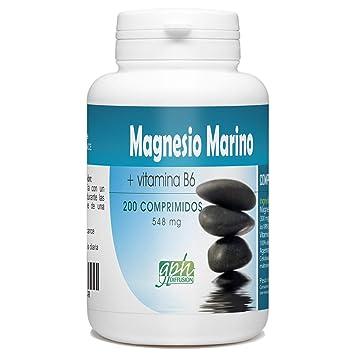 Magnesio marino y vitamina B6 ♢ 548 mg al día ♢ 200 comprimidos: Amazon.es: Salud y cuidado personal