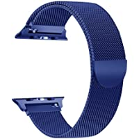 Tervoka Compatible para Correa Apple Watch 42mm(44mm Series 4)/ 38mm(40mm Series 4), Milanese Loop Correa de Acero Inoxidable Reemplazo de Banda de la Muñeca para Apple Watch Series 4/3/2/1