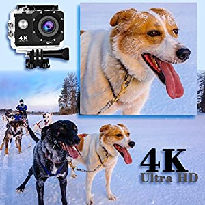 Action Camera JuguHoovi JH80S 4K Camera 16MP Waterproof Camera 170 Wide Angle Sport Underwater Camera Super Tiny Lightweight GoPro Style Digital Camera With 2x1350 mAh Batteries