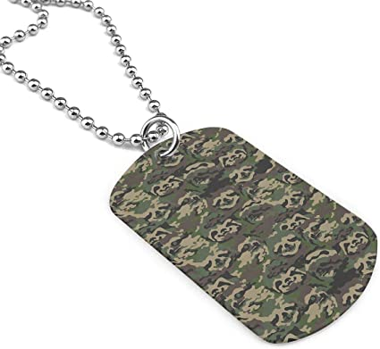 Jewelry Love Elephant Dog Tag Military Zinc Alloy Pendant Necklace