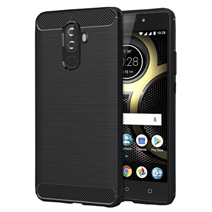 1ca5cd41b49 LOFAD CASE Back Cover for Lenovo K8 Plus Black  Amazon.in  Electronics