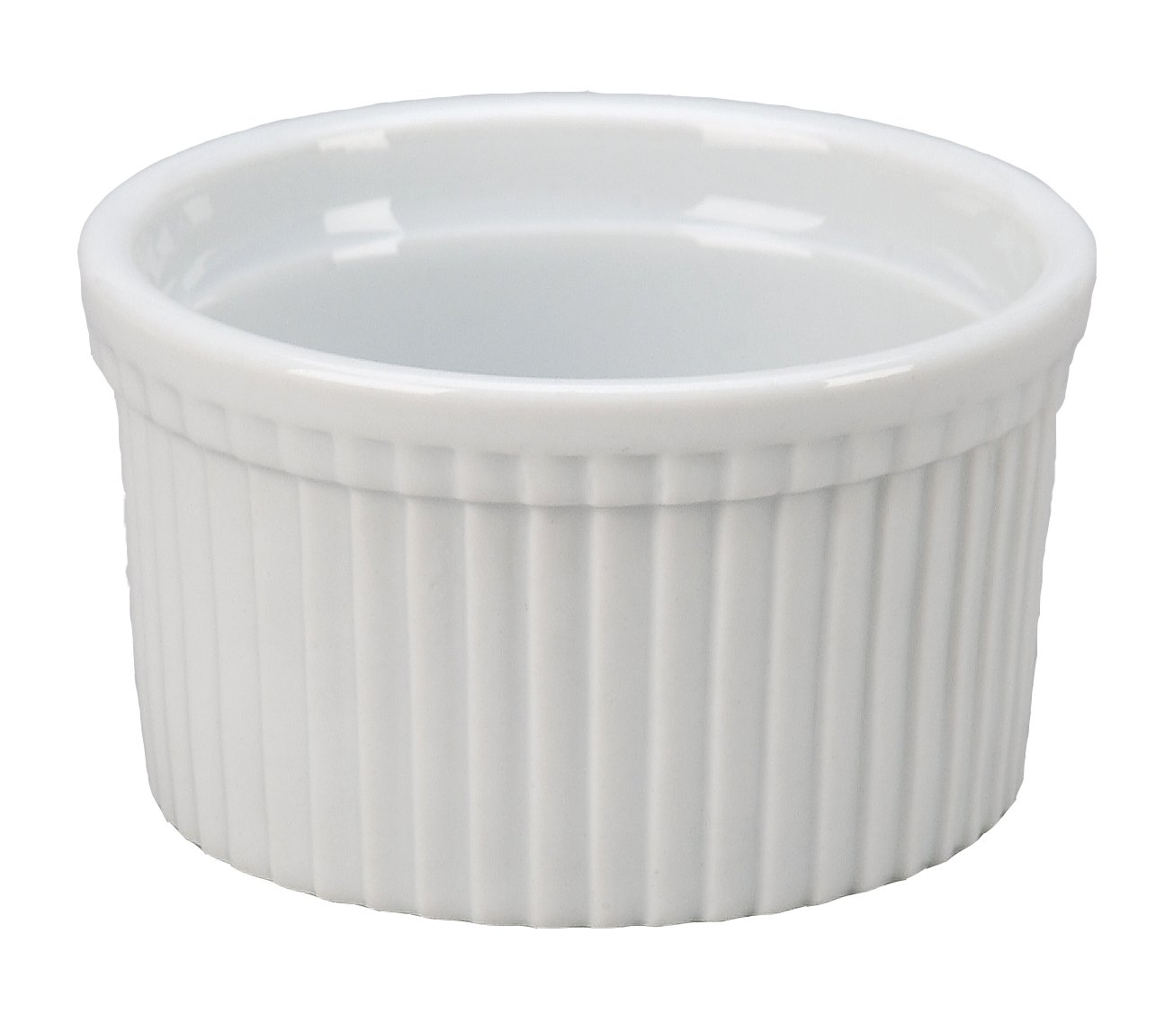 Vertex China RMK-3-P Market Buffet Ramekin, Fluted, 3'', 3 oz., Porcelain White (Pack of 48)