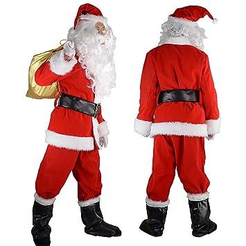 VANKER Trajes de Papá Noel 10 piezas Disfraces de Navidad ...